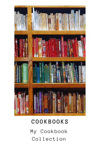My used and new cookbook collection