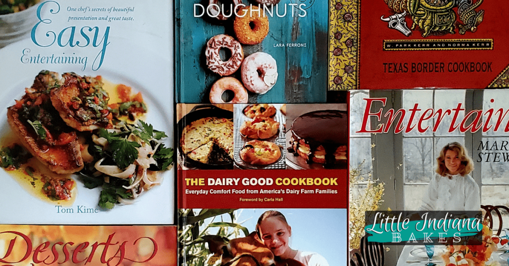 """""""E"""" and """"D"""" cookbook titles in my collection"""